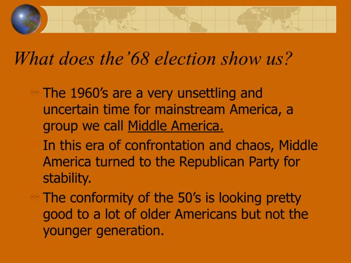 What does the'68 election show us?