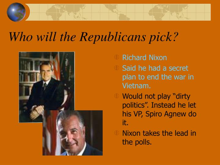 Who will the Republicans pick?