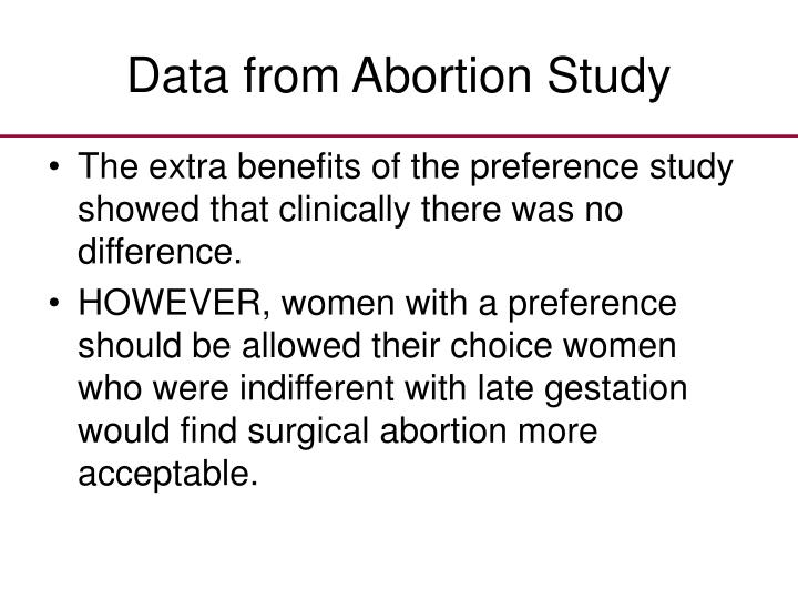 Data from Abortion Study