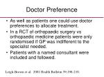 doctor preference