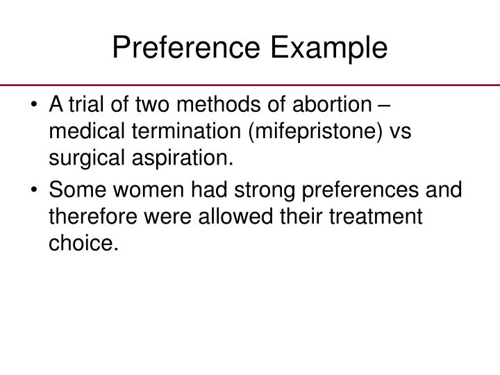 Preference Example
