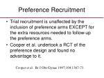 preference recruitment