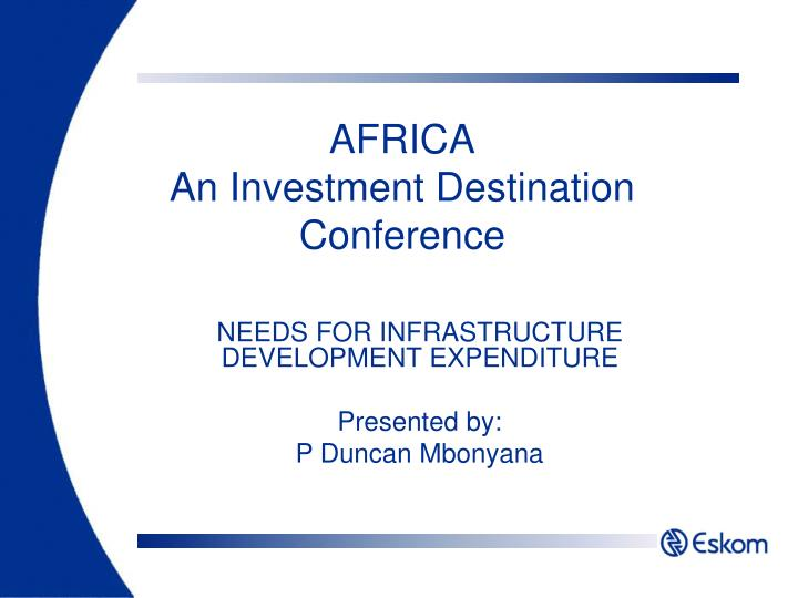 Africa an investment destination conference