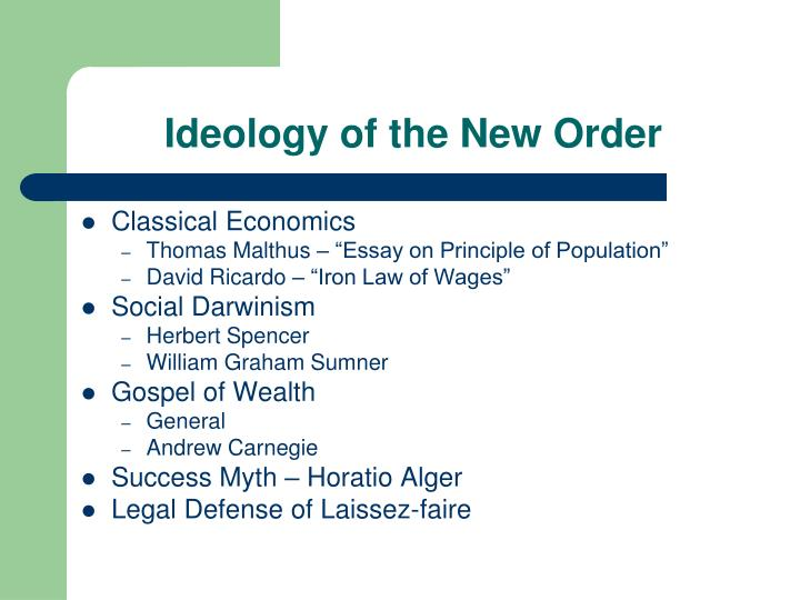 Ideology of the new order1