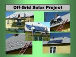 off grid solar project