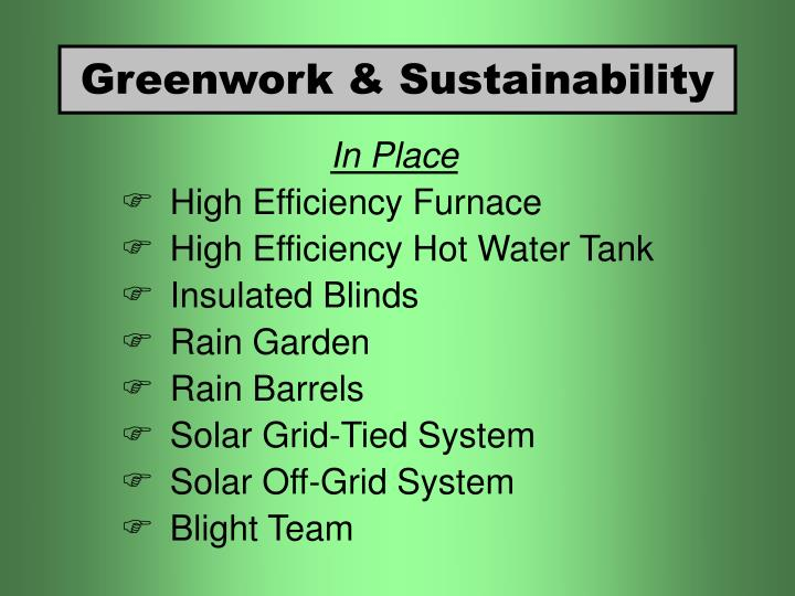 Greenwork & Sustainability