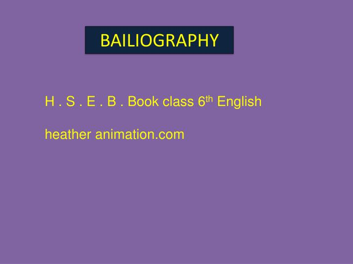 BAILIOGRAPHY