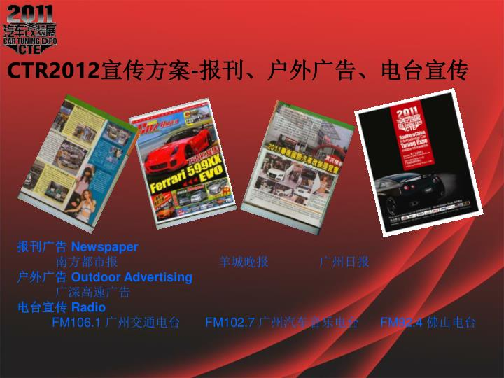CTR2012宣传方案