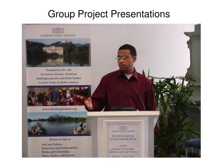 Group Project Presentations
