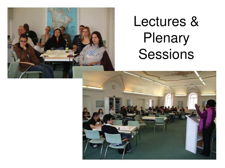 Lectures & Plenary Sessions