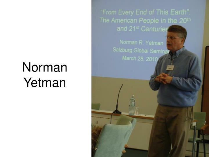 Norman Yetman