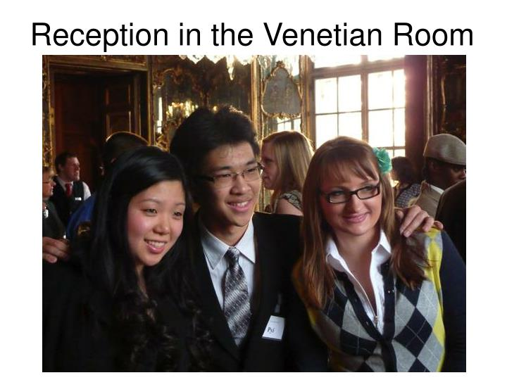 Reception in the Venetian Room