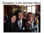 reception in the venetian room