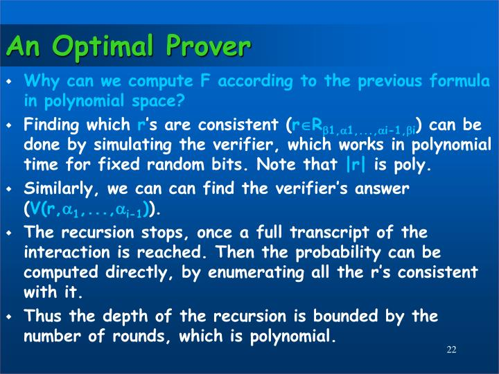 An Optimal Prover