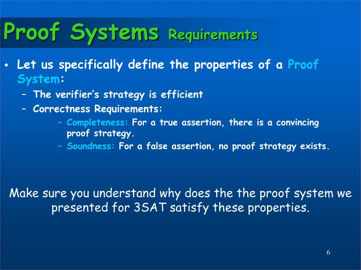 Proof Systems