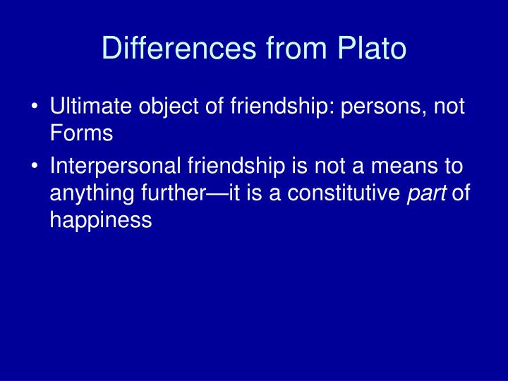 Differences from Plato