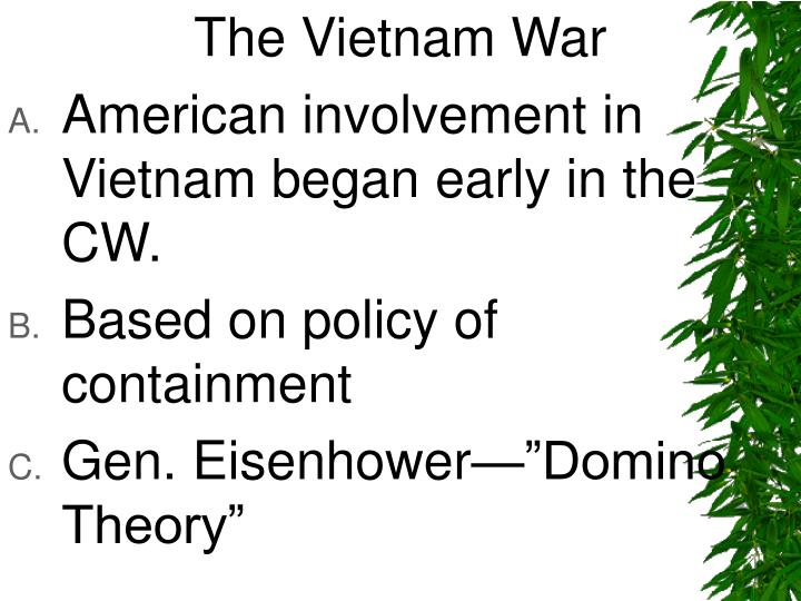 american involvement in vietnam war essay