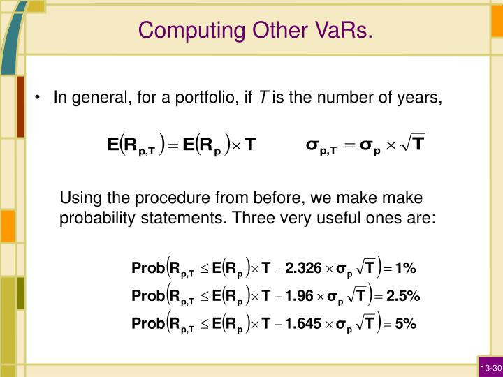 Computing Other VaRs.