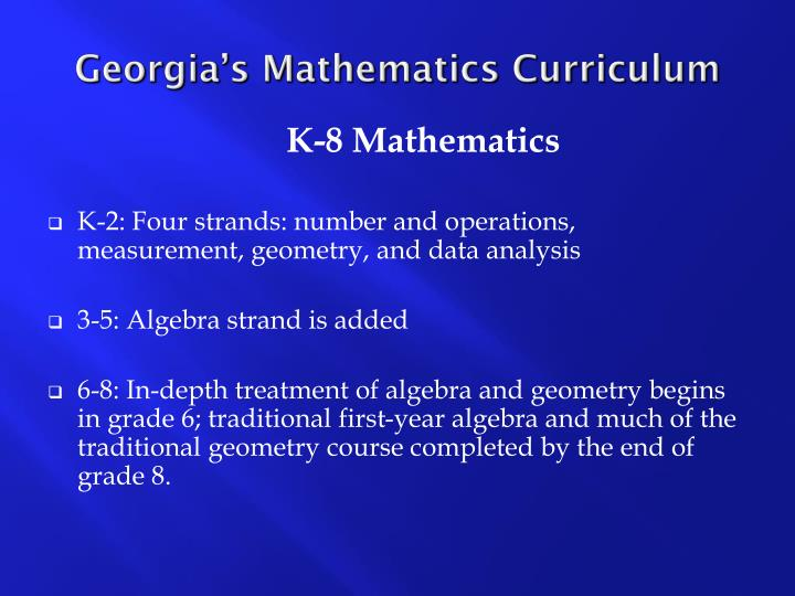 Georgia's Mathematics Curriculum