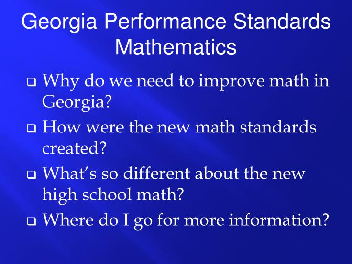 Why do we need to improve math in Georgia?