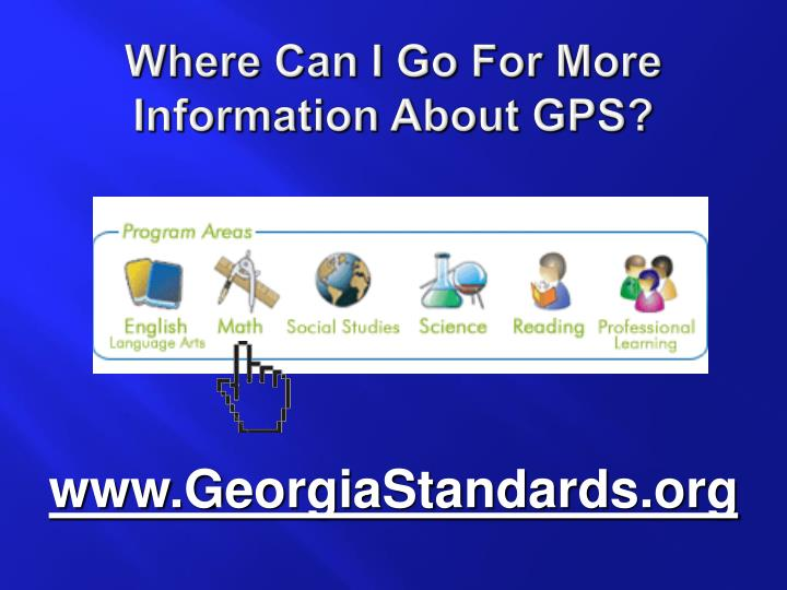 Where Can I Go For More Information About GPS?