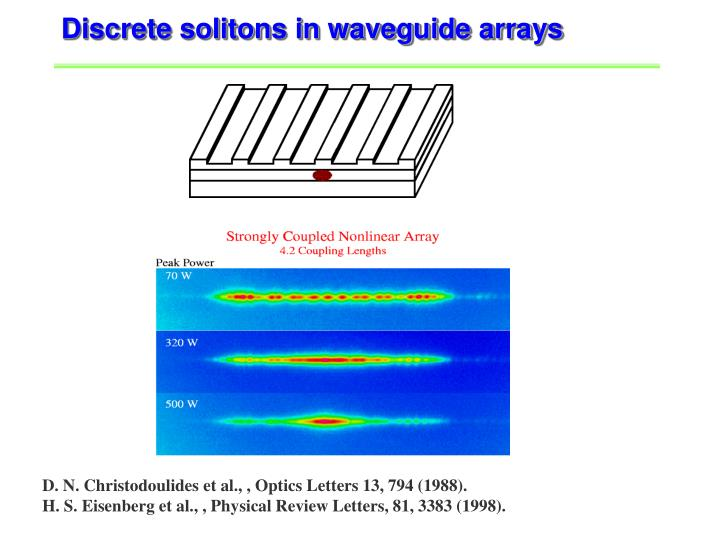 Discrete solitons in waveguide arrays