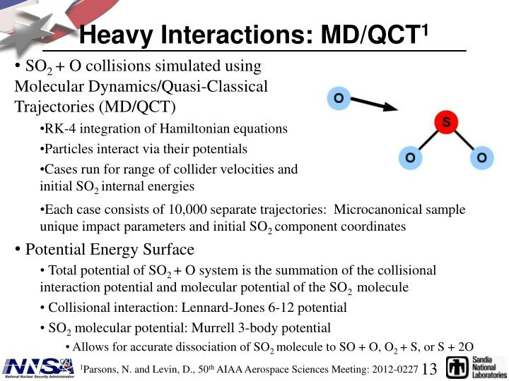 Heavy Interactions: MD/QCT