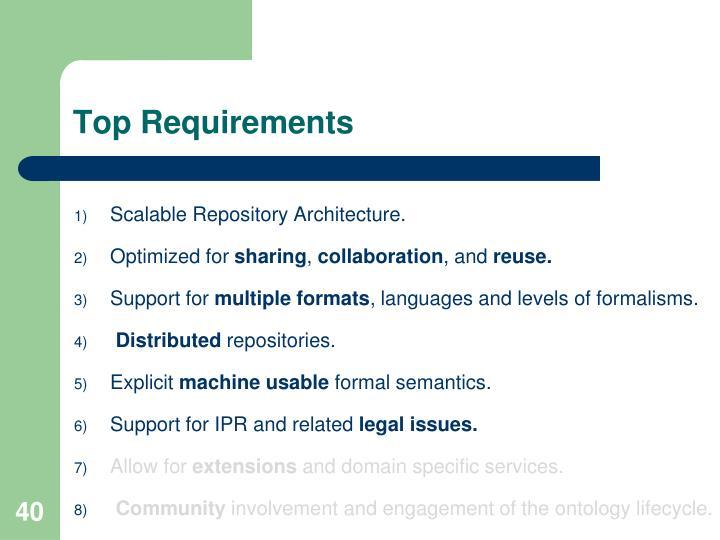 Top Requirements