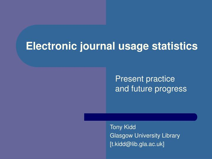 Electronic journal usage statistics