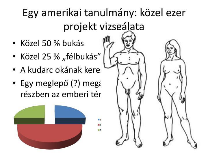 Egy amerikai tanulmány: közel ezer projekt vizsgálata