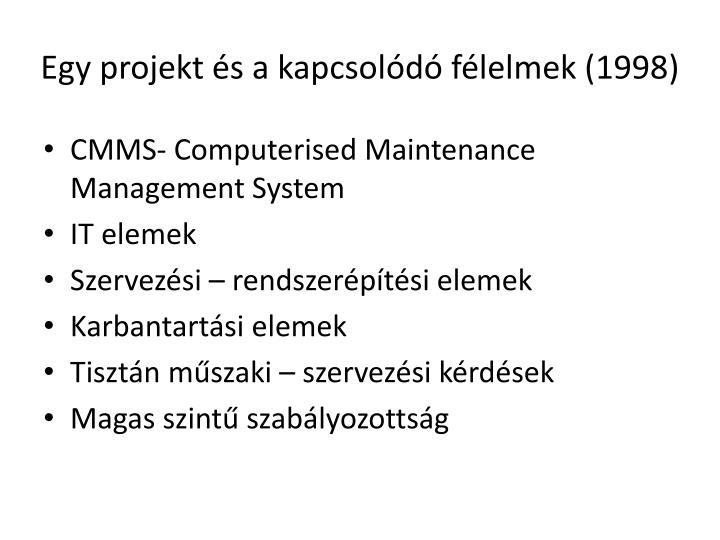 Egy projekt és a kapcsolódó félelmek (1998)