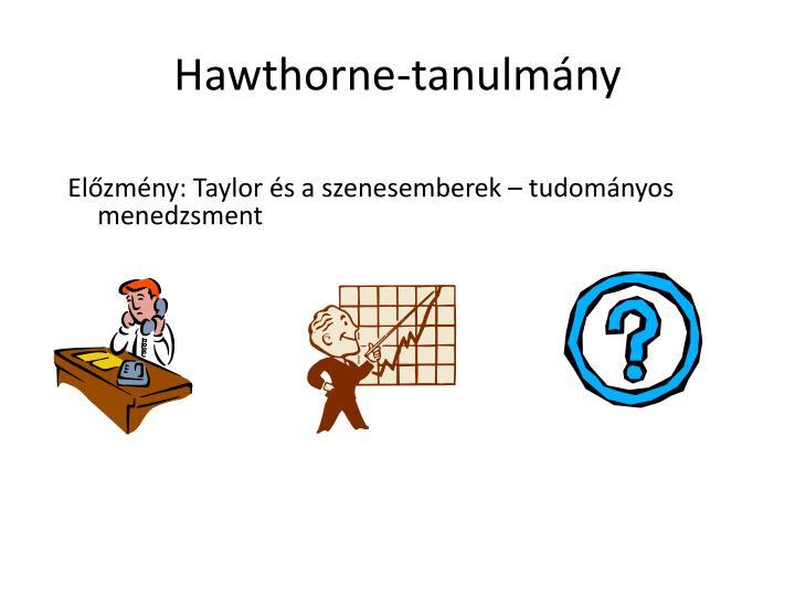 Hawthorne-tanulmány