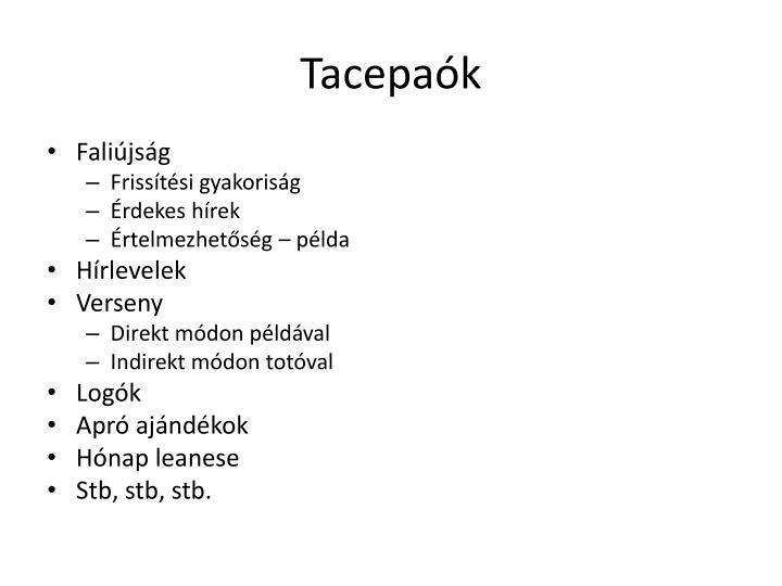 Tacepaók