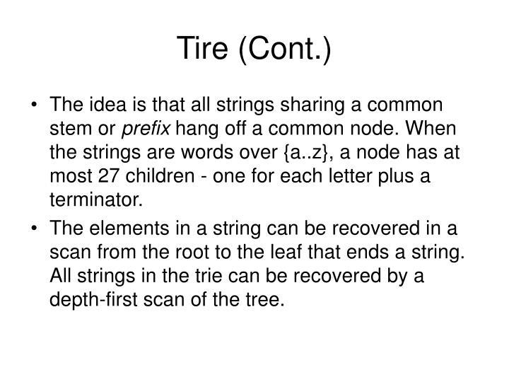 Tire (Cont.)