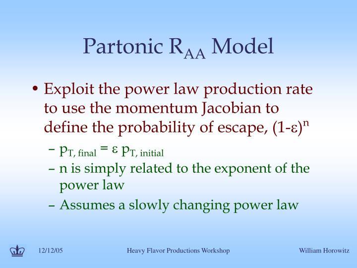 Partonic R