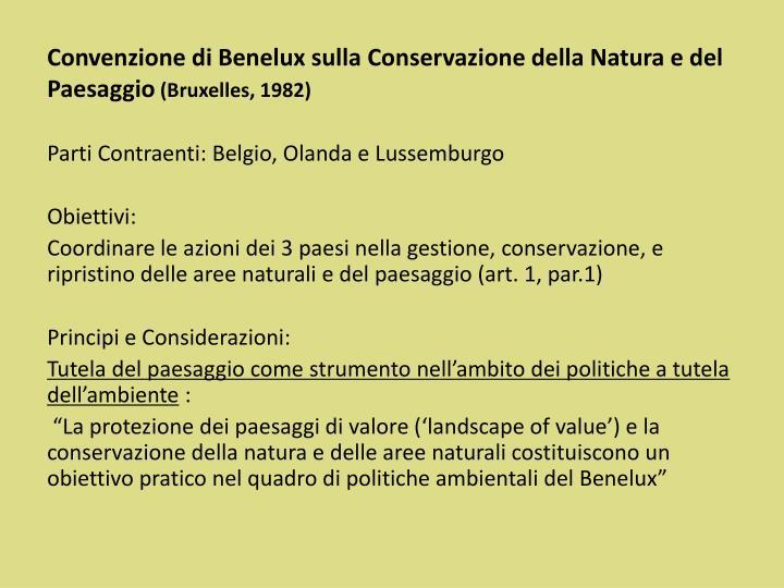 Convenzione di Benelux sulla Conservazione della Natura e del Paesaggio