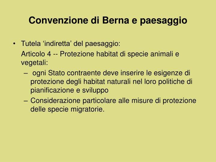 Convenzione di Berna e paesaggio