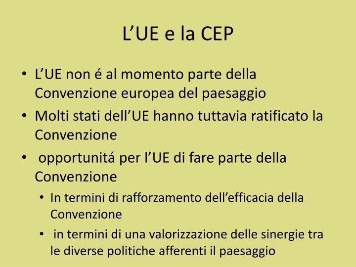 L'UE e la CEP