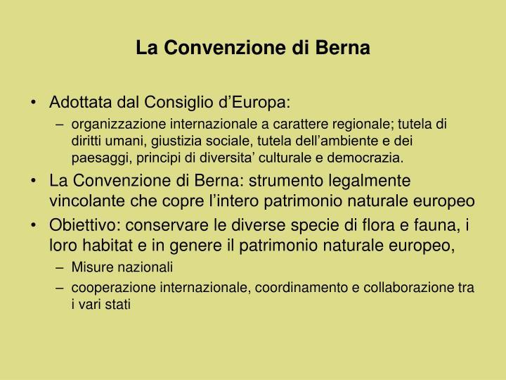 La Convenzione di Berna