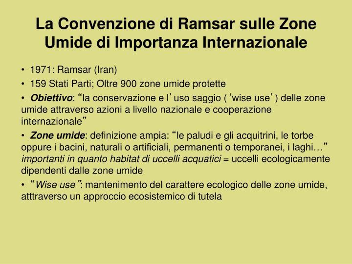 La Convenzione di Ramsar sulle Zone Umide di Importanza Internazionale