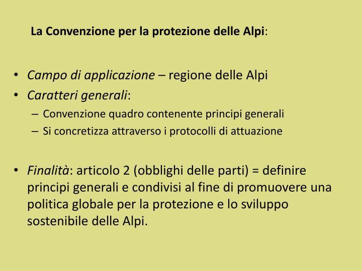 La Convenzione per la protezione delle Alpi