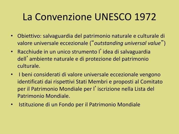 La Convenzione UNESCO 1972