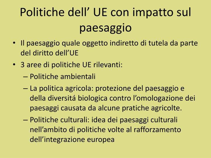 Politiche dell' UE con impatto sul paesaggio