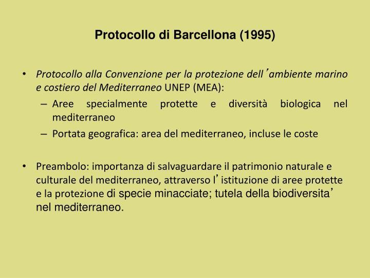 Protocollo di Barcellona (1995)