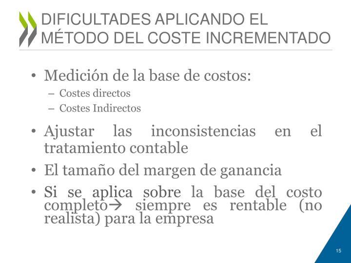 DIFICULTADES APLICANDO EL
