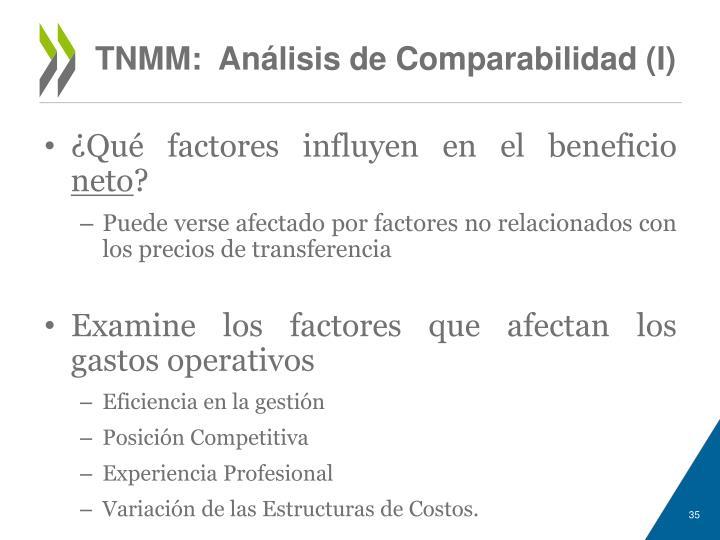 TNMM:  Análisis de Comparabilidad (I)