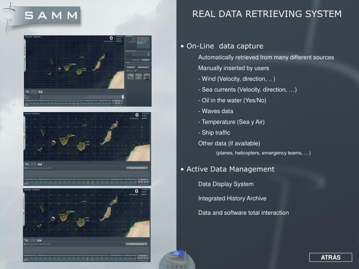 REAL DATA RETRIEVING SYSTEM