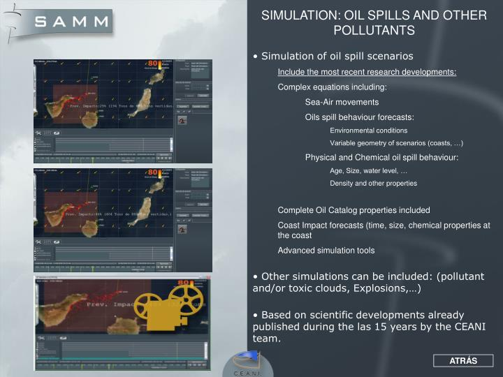 SIMULATION: OIL SPILLS AND OTHER POLLUTANTS