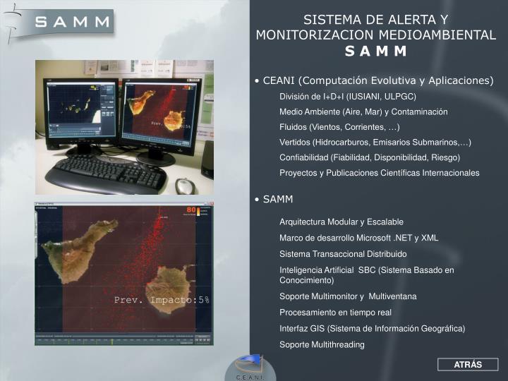 SISTEMA DE ALERTA Y MONITORIZACION MEDIOAMBIENTAL