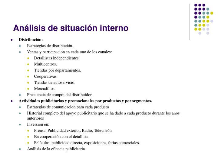 Análisis de situación interno
